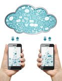 Cloud computing concept. Royalty Free Stock Photos