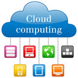 Cloud Computing Concept. With colorful icons. Eps file available Stock Photography
