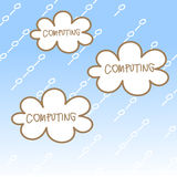 Cloud computing concept. Cartoon drawing of cloud computing concept Stock Images