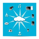 Cloud Computing concept background. Vector Cloud Computing concept background with a lot of icons Royalty Free Stock Images