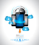 Cloud Computing concept Background Stock Photos