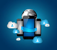 Cloud Computing concept Background Royalty Free Stock Images