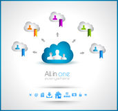 Cloud Computing concept background Stock Images