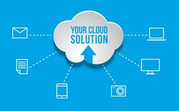 Cloud Computing concept background. With icons Royalty Free Stock Photos
