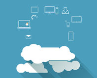 Cloud Computing concept background Royalty Free Stock Photography