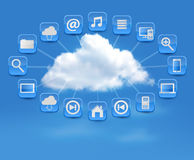 Cloud Computing concept background with icons. Royalty Free Stock Images