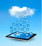 Cloud computing concept background with icons Royalty Free Stock Photo