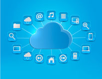 Cloud Computing concept background with icons. Royalty Free Stock Photography