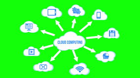 Cloud Computing concept background with a lot of clouds stock footage
