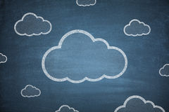 Cloud computing concept on Blackboard Royalty Free Stock Image