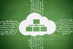 Cloud computing concept on Blackboard Stock Images