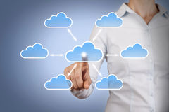 Cloud Computing Concept on Blackboard Royalty Free Stock Photo