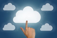 Cloud computing concept with blank space Royalty Free Stock Photo