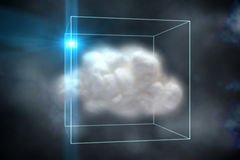 Cloud computing concept in box Stock Photo