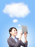 Cloud computing concept in business Stock Photo