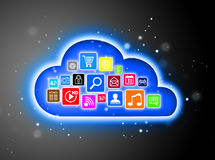 Cloud computing concept for business presentations Royalty Free Stock Photo