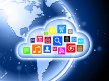 Cloud computing concept for business presentations Stock Photography