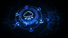 Cloud computing concept. Business, technology, internet and networking concept