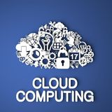 Cloud Computing Concept. Stock Photo