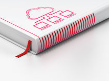 Cloud computing concept: closed book, Cloud Stock Photo