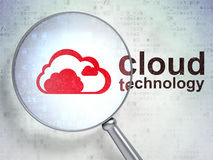 Cloud computing concept: Cloud and Cloud Technology with optical Royalty Free Stock Photography