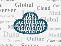 Cloud computing concept: Cloud With Code on wall background Stock Photos