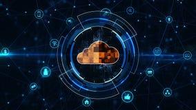 Cloud computing concept. stock illustration
