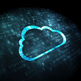 Cloud computing concept: Cloud on digital background Royalty Free Stock Image