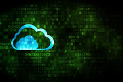 Cloud computing concept: Cloud on digital background Stock Photography