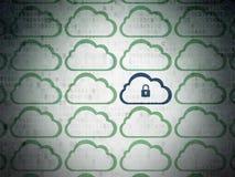 Cloud computing concept: cloud icon on digital Stock Photo