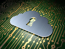Cloud computing concept: Cloud With Keyhole on Stock Images