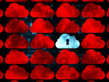 Cloud computing concept: cloud with keyhole icon Stock Image