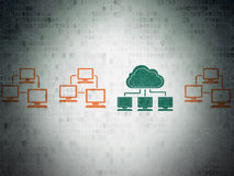 Cloud computing concept: cloud network icon on Royalty Free Stock Photography