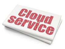 Cloud computing concept: Cloud Service on Blank Newspaper background Royalty Free Stock Image