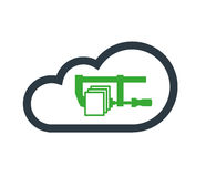 Cloud Computing Concept. With Comppres Data Icon Design Royalty Free Stock Photography