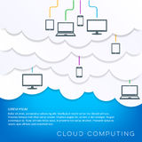 Cloud computing concept with connected devices Stock Photography