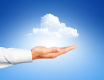 Cloud computing concept with copy space Royalty Free Stock Photo