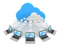Cloud computing concept  3d illustration Stock Photography