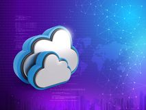 Cloud Computing Concept, 3D rendering abstract background security vector illustration