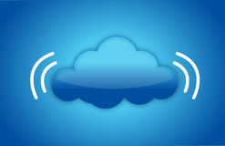 Cloud computing concept with data signal Royalty Free Stock Photography