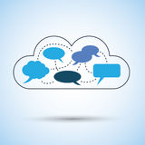 Cloud computing concept design Stock Photography