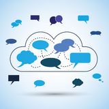 Cloud Computing Concept Design Royalty Free Stock Photography