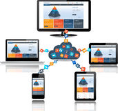 Cloud computing concept design Stock Images
