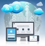 Cloud computing concept design Royalty Free Stock Images