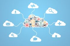 Cloud computing. Concept design. This is file of EPS10 format Stock Image