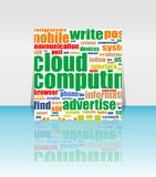 Cloud computing concept design - Flyer or Cover Royalty Free Stock Photo