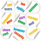 Cloud computing concept design - stickers set Royalty Free Stock Photo