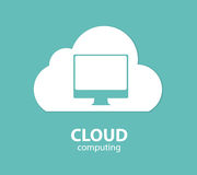 Cloud Computing Concept on Different Electronic Royalty Free Stock Images