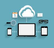 Cloud Computing Concept on Different Electronic Stock Photos