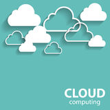 Cloud Computing Concept on Different Electronic Royalty Free Stock Photography